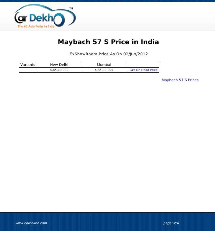 2012 Maybach 57 Camshaft: Maybach+57+S+Price+01Jun2012