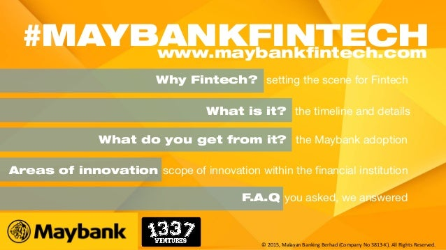 Why Fintech? setting the scene for Fintech What is it? the timeline and details Areas of innovation scope of innovation wi...