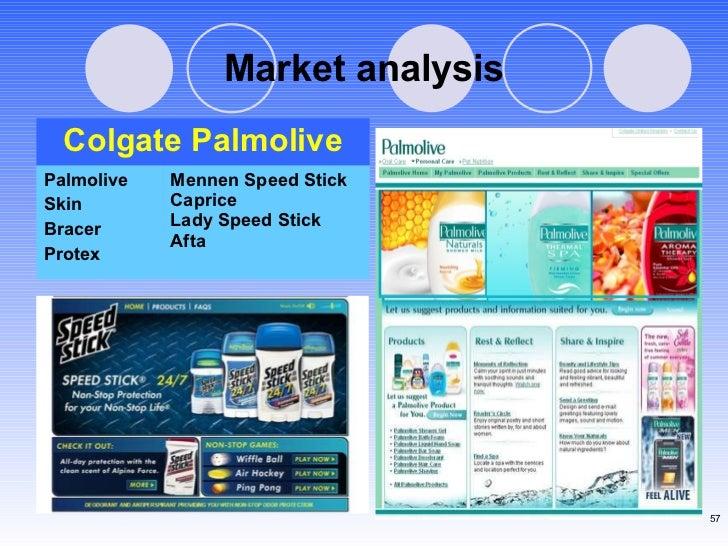 Market analysis Mennen Speed Stick Caprice Lady Speed Stick  Afta  Palmolive  Skin  Bracer Protex Colgate Palmolive