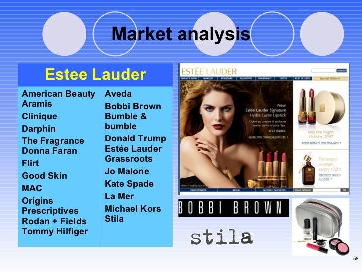 Market analysis Aveda  Bobbi Brown Bumble & bumble  Donald Trump Est ée Lauder Grassroots  Jo Malone  Kate Spade  La Mer  ...