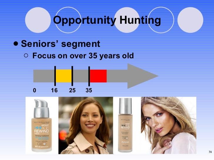 Opportunity Hunting <ul><li>Seniors' segment </li></ul><ul><ul><li>Focus on over 35 years old </li></ul></ul>0  16  25  35