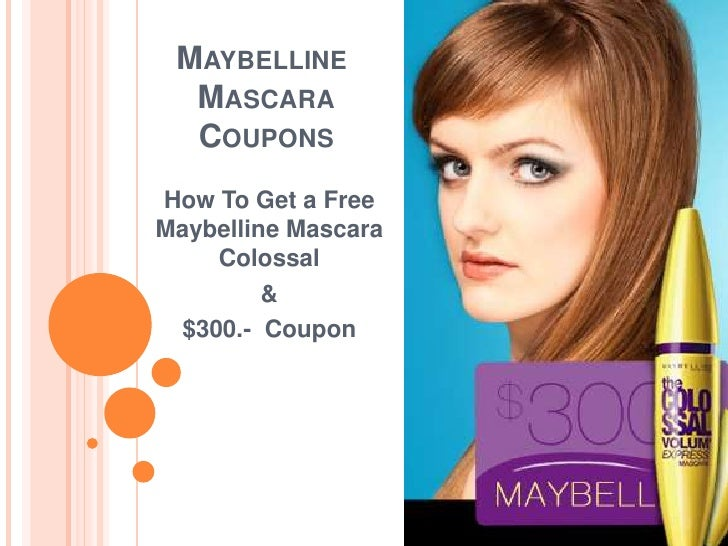 Maybelline makeup coupons 2019