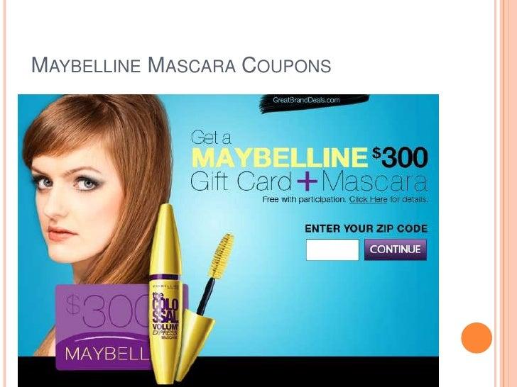 Maybelline mascara coupons 2019