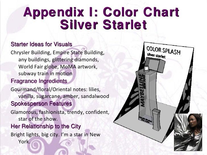 Appendix I: Color Chart  Silver Starlet <ul><li>Starter Ideas for Visuals </li></ul><ul><li>Chrysler Building, Empire Stat...