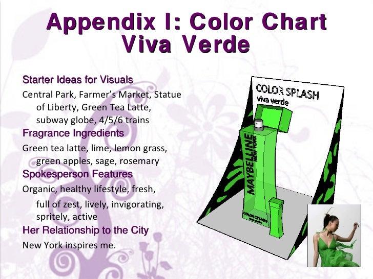 Appendix I: Color Chart Viva Verde <ul><li>Starter Ideas for Visuals </li></ul><ul><li>Central Park, Farmer's Market, Stat...
