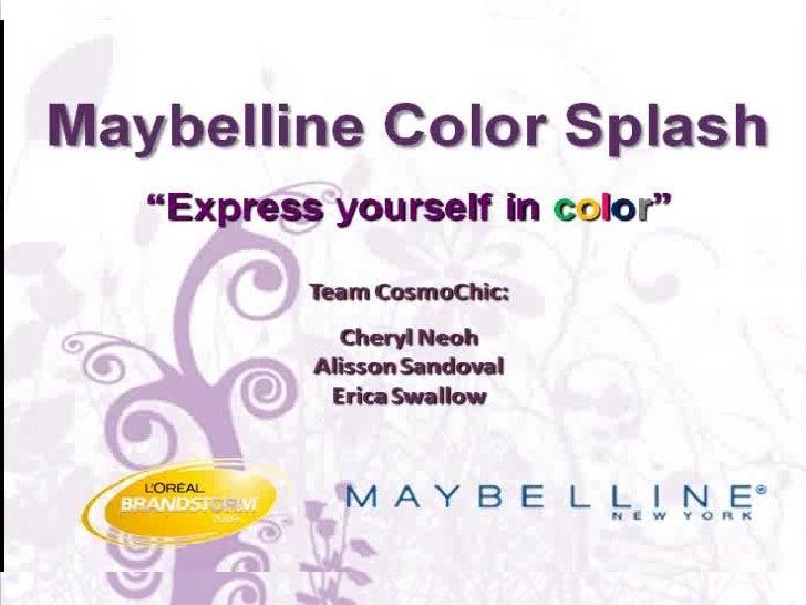 Maybelline Color Splash Product Pitch Slide 3