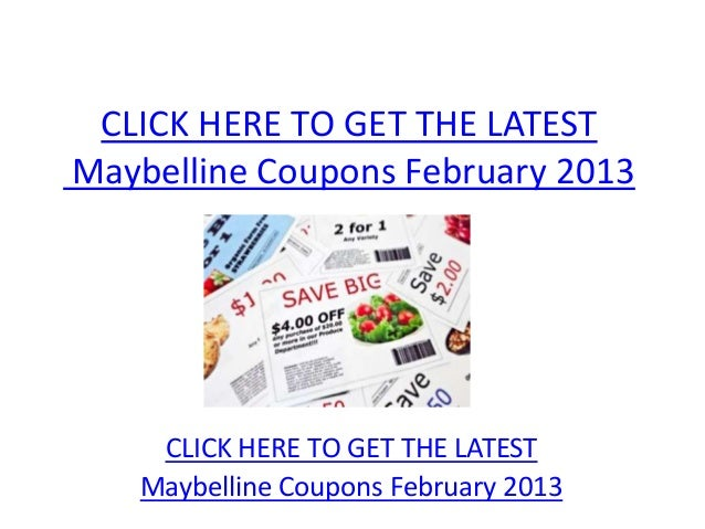 photograph about Printable Maybelline Coupons called Maybelline Discount codes February 2013 - Printable Maybelline