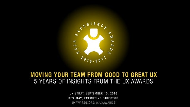MOVING YOUR TEAM FROM GOOD TO GREAT UX