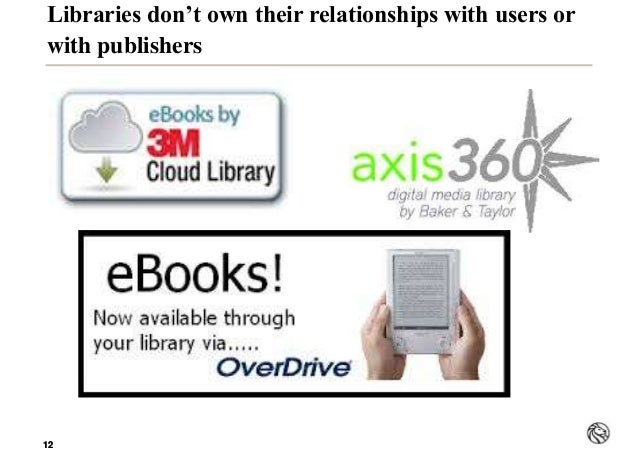 1212 Libraries don't own their relationships with users or with publishers