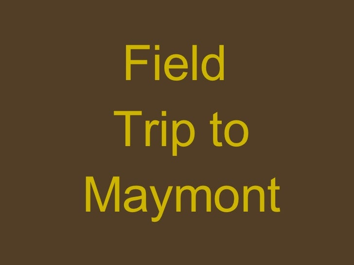 Field  Trip to Maymont