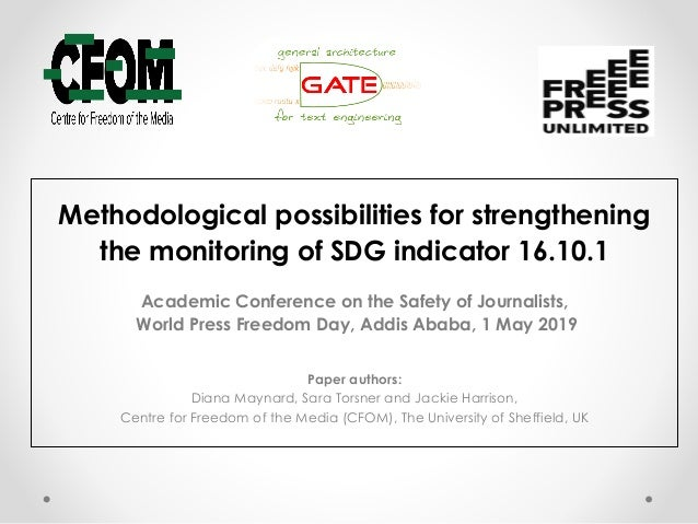 Methodological possibilities for strengthening the monitoring of SDG indicator 16.10.1 Academic Conference on the Safety o...