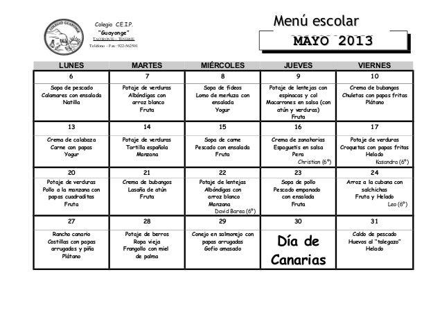 LUNES MARTES MIÉRCOLES JUEVES VIERNES6 7 8 9 10Sopa de pescadoCalamares con ensaladaNatillaPotaje de verdurasAlbóndigas co...