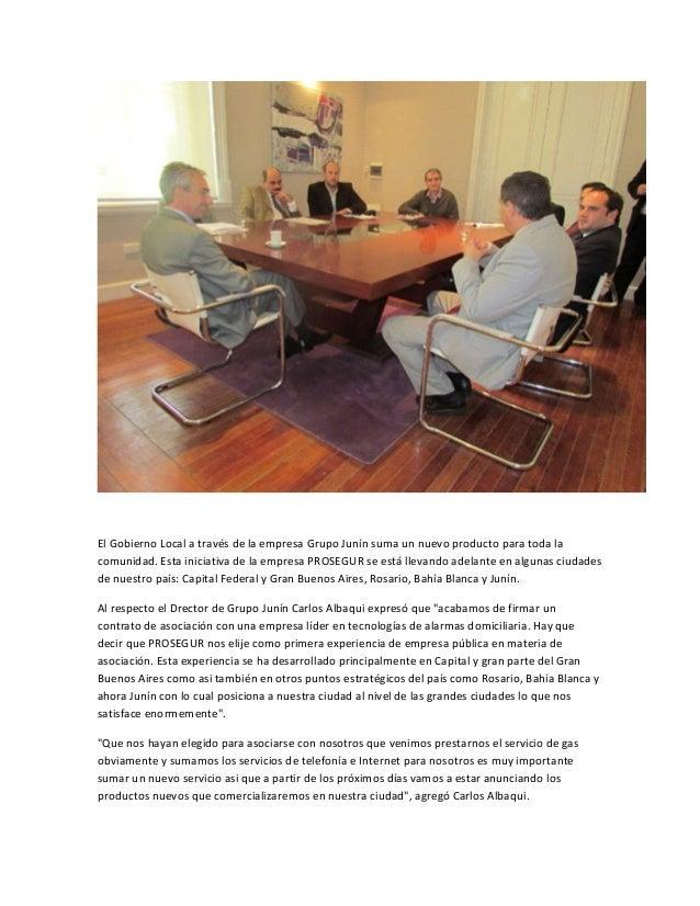 """Por su parte, Claudio Pellejero, gerente zonal de la empresa PROSEGUR indicó que """"hemosfirmado el acuerdo con el Grupo Jun..."""