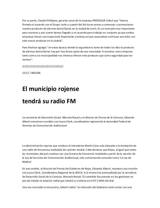 """radio de frecuencia modulada estatal y abierta a toda la comunidad para hacer escuchar lasdistintas voces"""" y agregó """"las c..."""