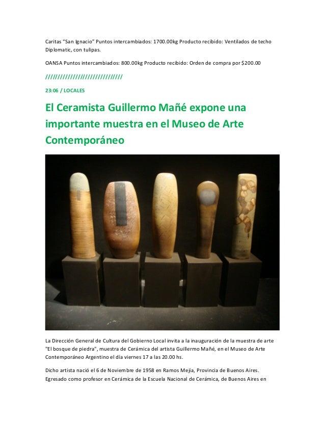 """Caritas """"San Ignacio"""" Puntos intercambiados: 1700.00kg Producto recibido: Ventilados de techoDiplomatic, con tulipas.OANSA..."""
