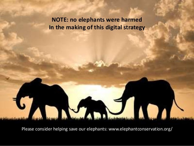 Eating an elephant: how to build an integrated digital strategy one bite at a time Slide 2