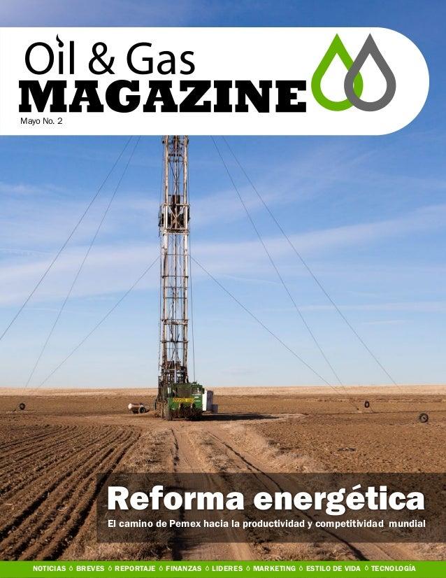 Mayo No. 2Reforma energéticaEl camino de Pemex hacia la productividad y competitividad mundialNOTICIAS BREVES REPORTAJE FI...