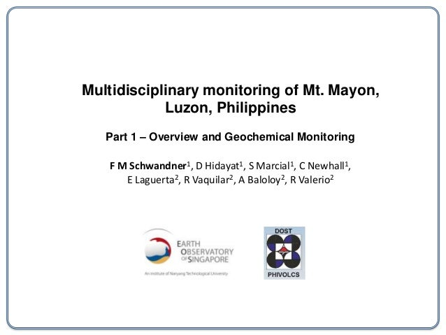 Multidisciplinary monitoring of Mt. Mayon,            Luzon, Philippines   Part 1 – Overview and Geochemical Monitoring   ...
