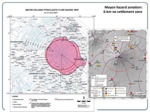 Mayon Hazard Zonation6 Km No Settlement Zone