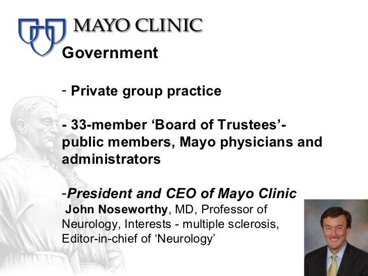Mayo Clinic - my experience