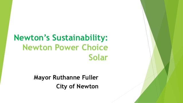 Newton's Sustainability: