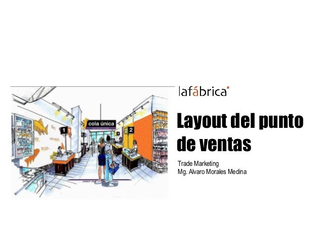 Layout del punto de ventas Trade Marketing Mg. Alvaro Morales Medina