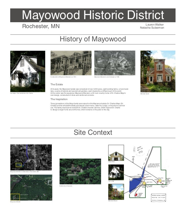 Mayowood Historic District                     Rochester, MN                                                              ...