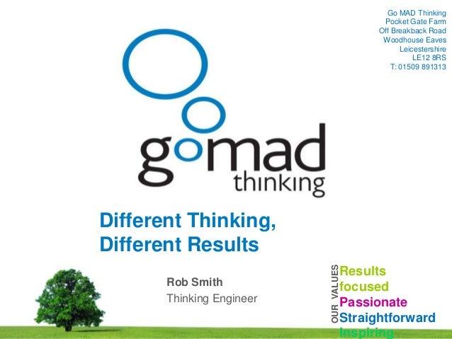05/06/2013 1www.gomadthinking.comGo MAD ThinkingPocket Gate FarmOff Breakback RoadWoodhouse EavesLeicestershireLE12 8RST: ...