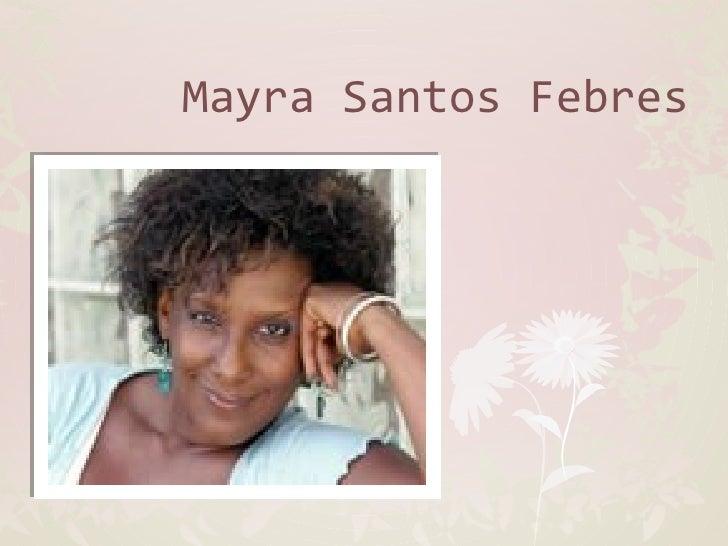 Mayra Santos FebresClick to edit Master subtitle style