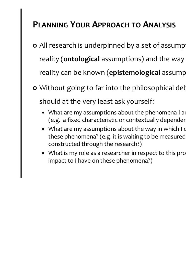 epistemological assumptions and issues in research psychology essay The theoretical interpretation and significance of these linguistic issues remains controversial in personal knowledge, michael polanyi argues for the epistemological relevance of knowledge how and knowledge that evolutionary psychology takes a novel approach to the problem.
