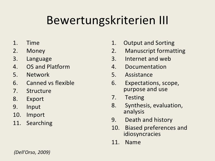 Bewertungskriterien III <ul><li>Time </li></ul><ul><li>Money </li></ul><ul><li>Language </li></ul><ul><li>OS and Platform ...
