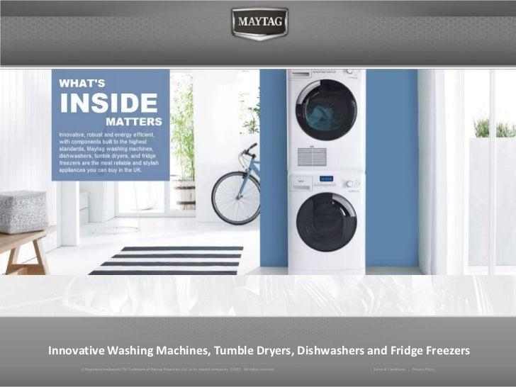 Innovative Washing Machines, Tumble Dryers, Dishwashers and Fridge Freezers