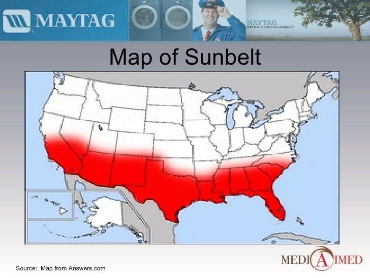 Maytag Presentation - Us sunbelt map