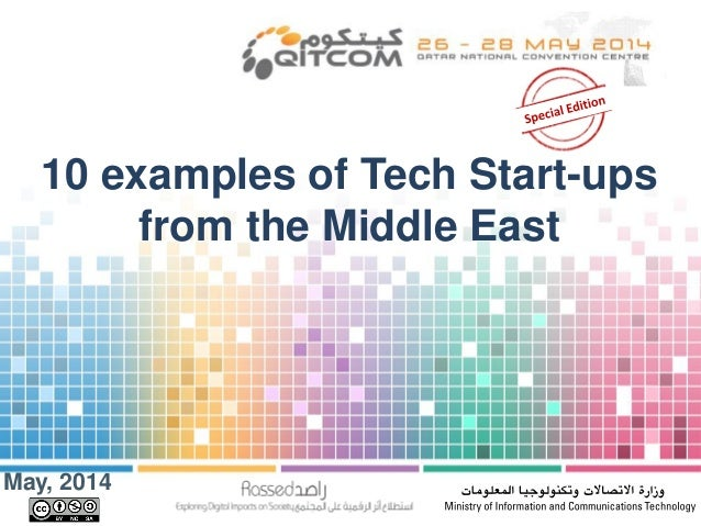 May, 2014 10 examples of Tech Start-ups from the Middle East