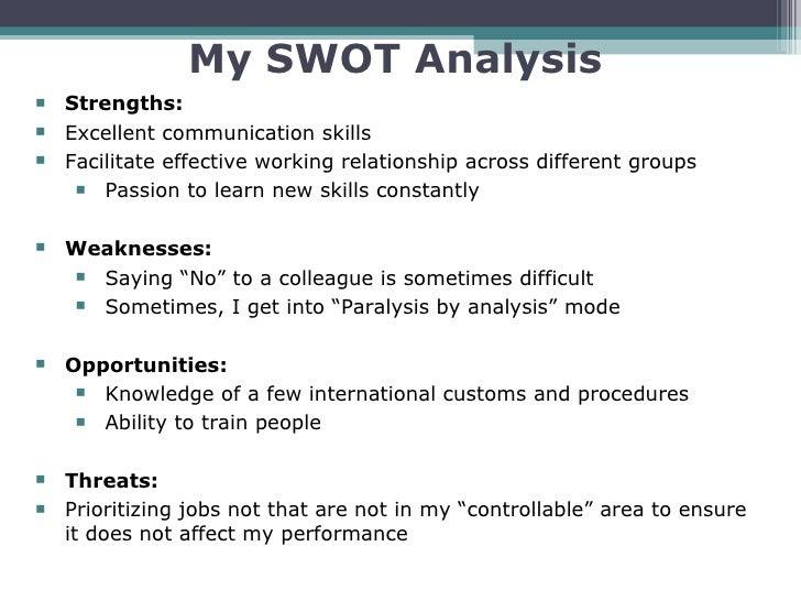 Business communication: writing a SWOT analysis