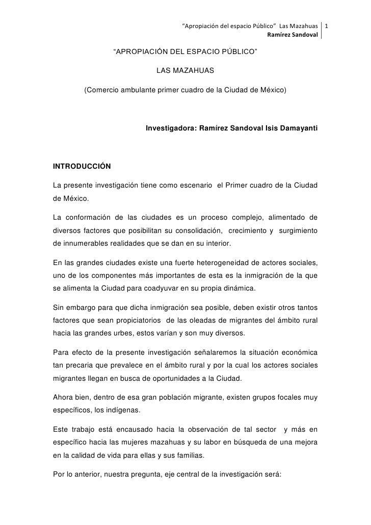 """""""Apropiación del espacio Público"""" Las Mazahuas 1                                                                      Ramí..."""