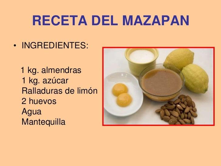 recetas de mazapan de almendras