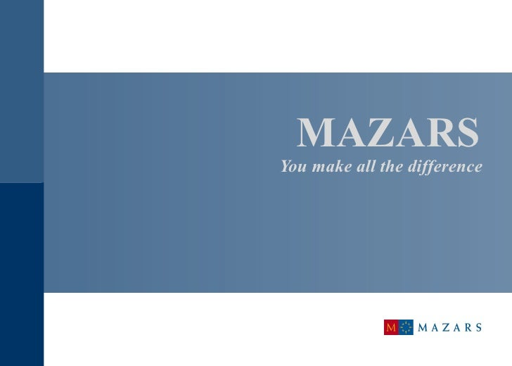 MAZARS   You make all the difference