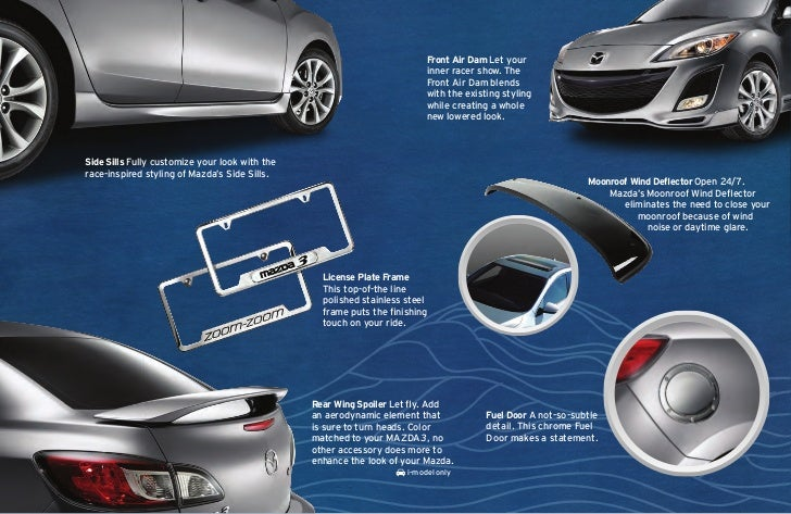 2012 Mazda3 hatchback and sedan parts and accessories brochure, Naple…