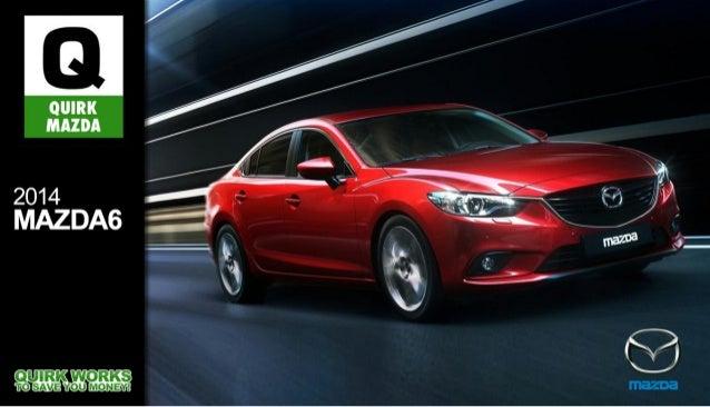 2014 Mazda6 Brochure MA | Quincy Mazda Dealer