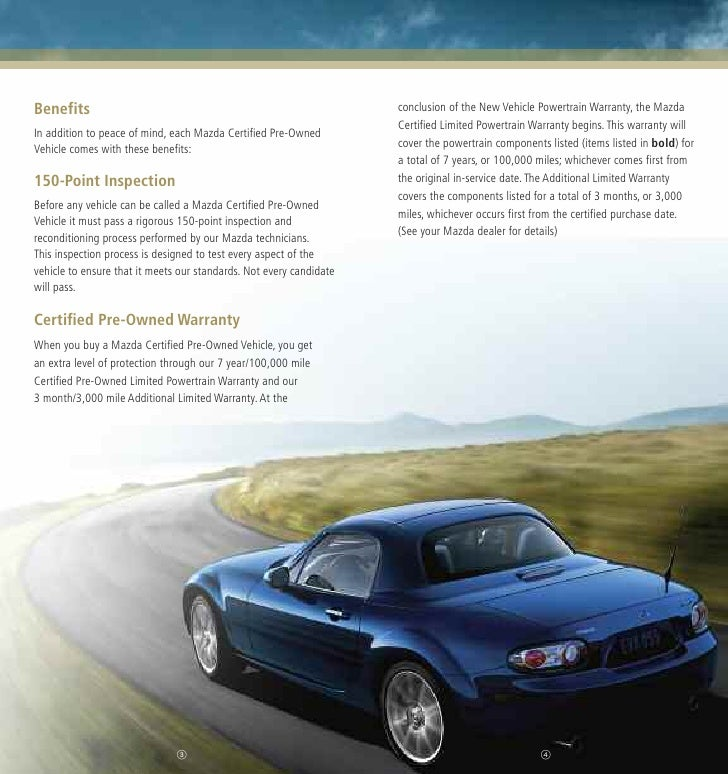 Mazda Certified Pre-Owned Used Cars CPO Brochure From