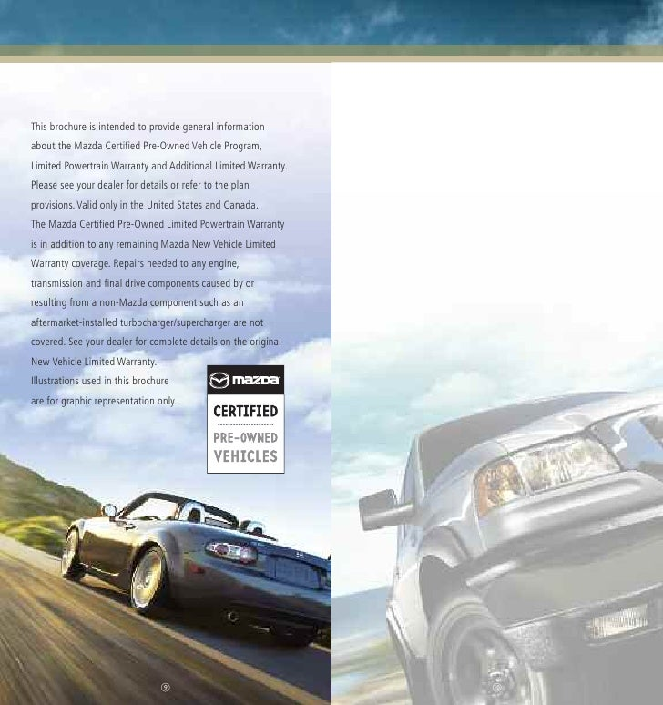 Where Is The Closest Mazda Dealership: Mazda Certified Pre-Owned Used Cars CPO Brochure From