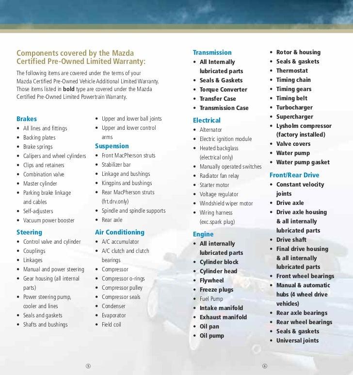 mazda certified pre-owned (cpo) brochure