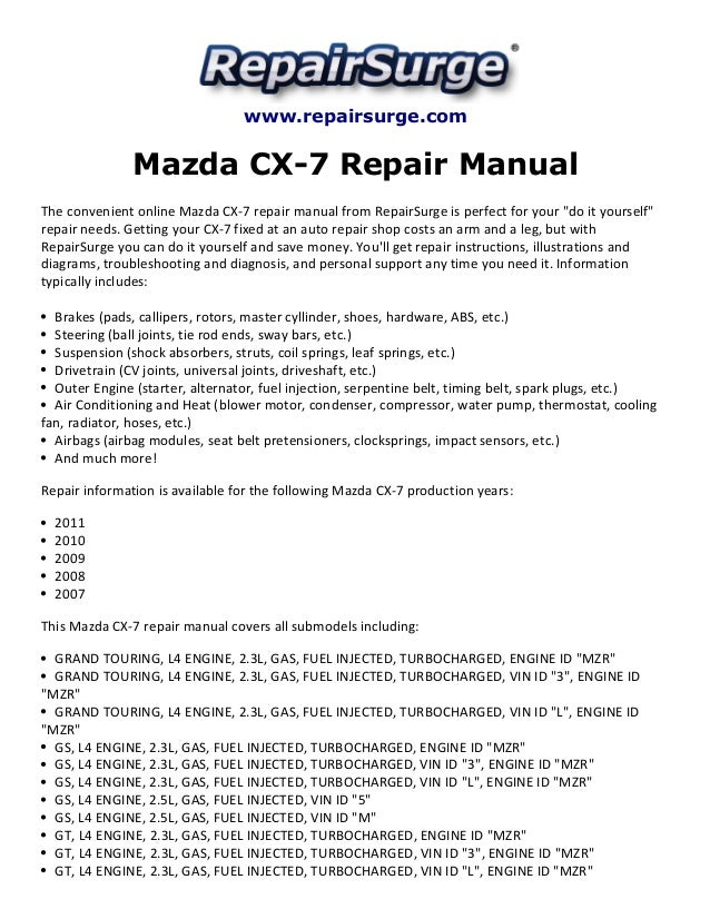 mazda cx7 repair manual 20072011 1 638?cb=1415628048 mazda cx 7 repair manual 2007 2011  at eliteediting.co