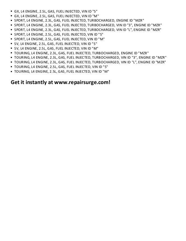 mazda cx 7 repair manual download