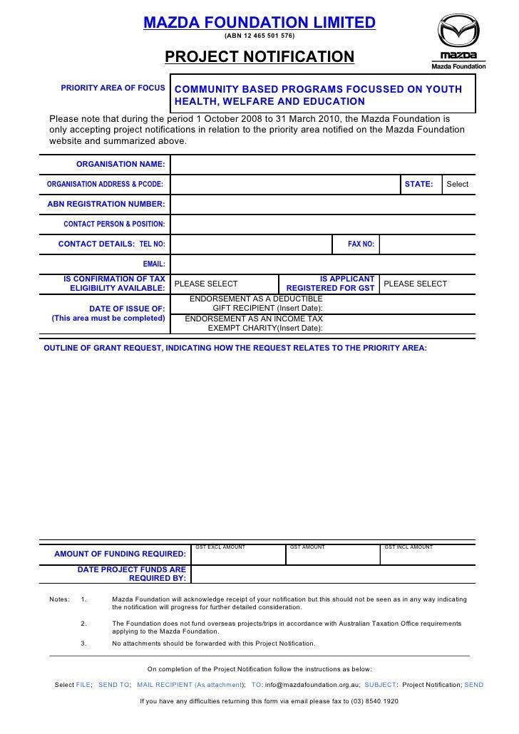 MAZDA FOUNDATION LIMITED                                                          (ABN 12 465 501 576)                    ...