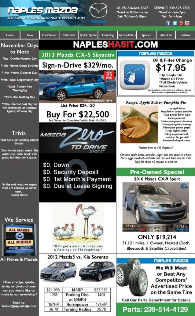 Naples Mazda November Newsletter