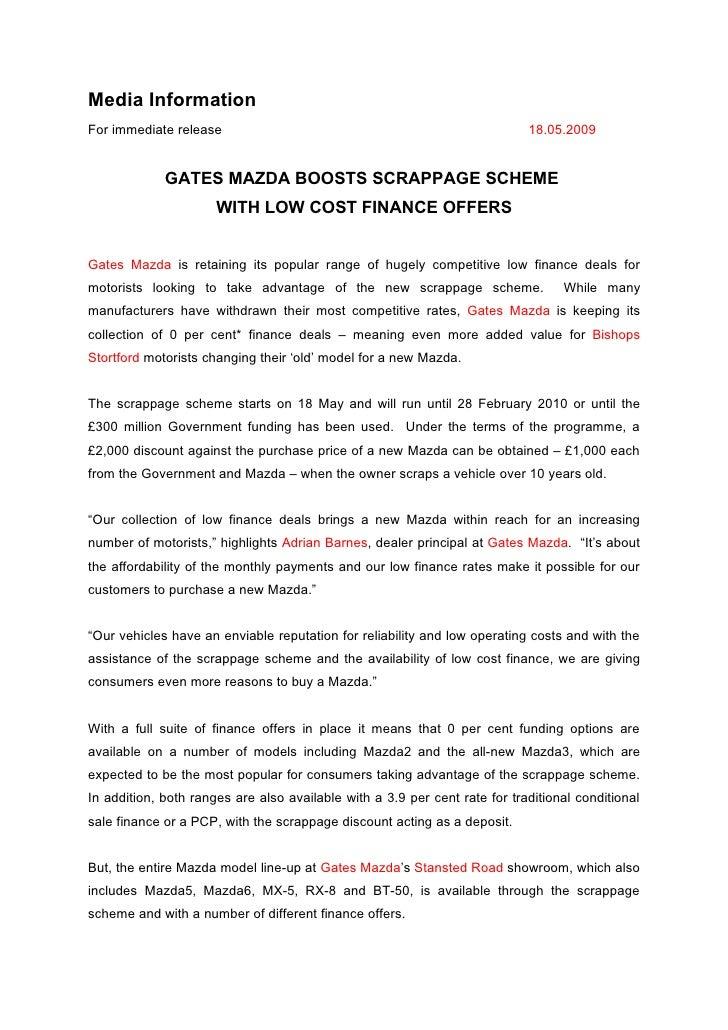 Media Information For immediate release                                                       18.05.2009                GA...