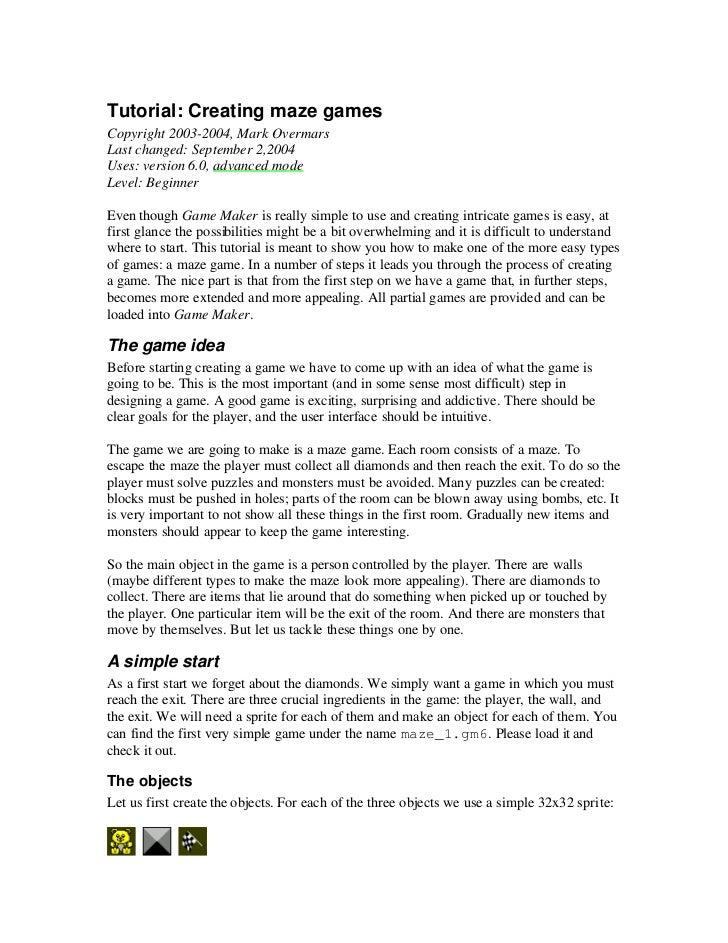 Tutorial: Creating maze gamesCopyright 2003-2004, Mark OvermarsLast changed: September 2,2004Uses: version 6.0, advanced m...