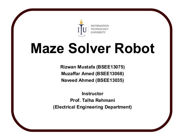 Pleasant Maze Solver Robot Presentation Wiring Digital Resources Sapebecompassionincorg